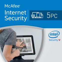 McAfee Internet Security 2017 5 PC licencja na rok