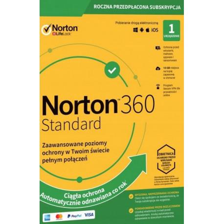 NORTON 360 STANDARD 1 PC 1 ROK