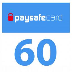 PaySafeCard 60 zł ( 30 + 30 ) PSC