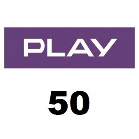Doładowanie Play 50 zł