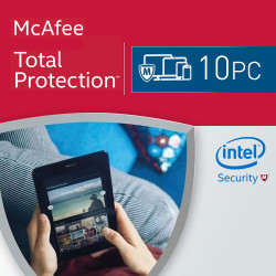 McAfee Total Protection 2018 KEY 10 PC