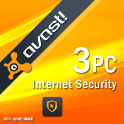 AVAST INTERNET SECURITY 2018 3 PC /1 ROK