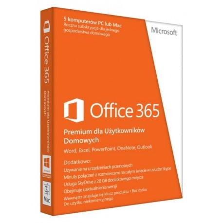 Microsoft Office 365 Home Premium, PL wersja 32 i 64 bit